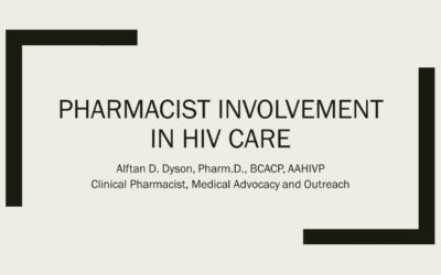 Webinar: Pharmacist Involvement In HIV Care