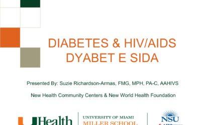 Webinar: DIABETES & HIV/AIDS DYABET E SIDA