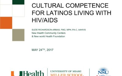 Webinar: CULTURAL COMPETENCE FOR LATINOS LIVING WITH HIV/AIDS