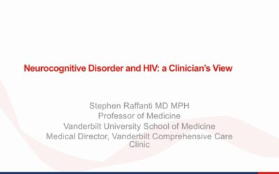 Webinar: Neurocognitive Disorder and HIV: a Clinician's View