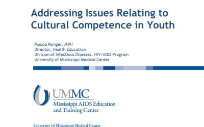Webinar: Addressing Issues Relating to Cultural Competence in Youth