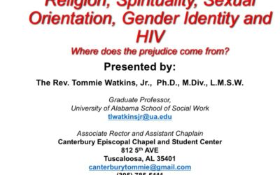 Webinar: Religion, Spirituality, Sexual Orientation, Gender Identity and HIV