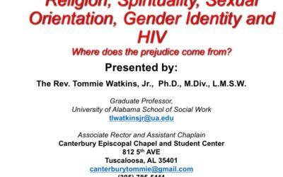 Webinar: Religion, Spirituality, Sexual Orientation, Gender Identity and HIV