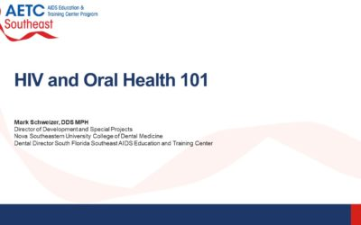 Webinar: HIV and Oral Health 101