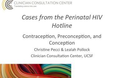 Webinar: Pre-Conception for Women Living with HIV or At Risk of Contracting HIV